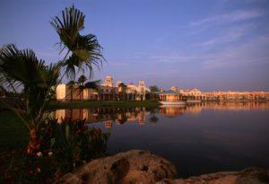 Lago Dorado at Disney's Coronado Springs Resort in Orlando, Florida. (Photo: Courtesy of Walt Disney World)
