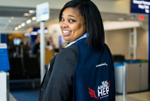 Lead Passenger Service Agent Presad Rennie For American's Regional Carrier Envoy Gains Angel And Hero Status For Saving A Baby (Photo: Courtesy of American Airlines)
