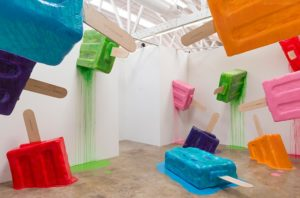 The popsicle jungle at the Museum of Ice Cream (Photo: Brian Feinzimer)