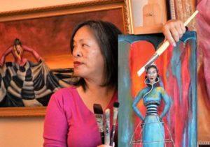 Feminist Artist Cynthia Tom (Photo: Courtesy of ArtSpan)