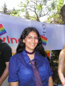 Shiri Eisner, organizer of Panorama, a bisexual organization, at Tel Aviv Pride 2009. (Photo: Girls That Roam)