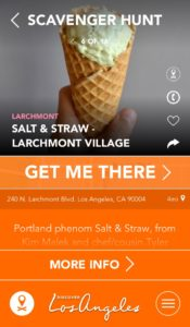 The Discover L.A. app's scavenger hunt for ice cream (Photo: Courtesy of Discover Los Angeles)