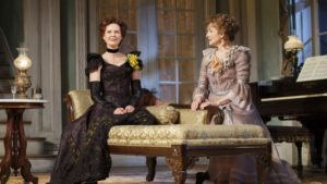 "Cynthia Nixon, left, and Laura Linney, right, in ""Little Foxes"" on Broadway. (Photo: Courtesy of Variety)"
