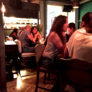 Diners enjoy a balmy Tel Aviv evening over good food and conversation at Joz ve Los in Tel Aviv, Israel. (Photo: Super G)