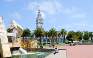 M. Justin Herman Plaza on San Francisco's Embarcadero. (Photo: © Alice Musbach / Alamy Stock Photo)
