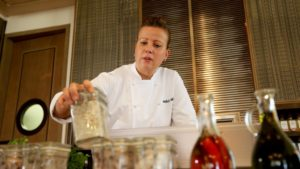 Executive Chef Michele Muller has a passion for food that has taken her to the top kitchens in Europe and the Middle East. (Photo: Courtesy of The National )
