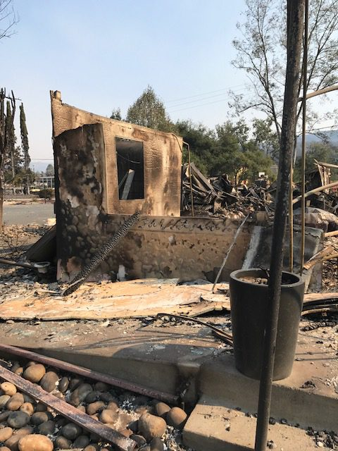 What remains of the popular Willi's Wine Bar in Santa Rosa, California. (Photo: Courtesy of Terri Stark)