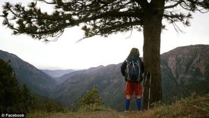 Stacey along the Pacific Crest Trail. (Photo: Courtesy of Daily Mail)