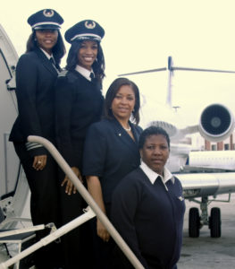 Black woman traveling