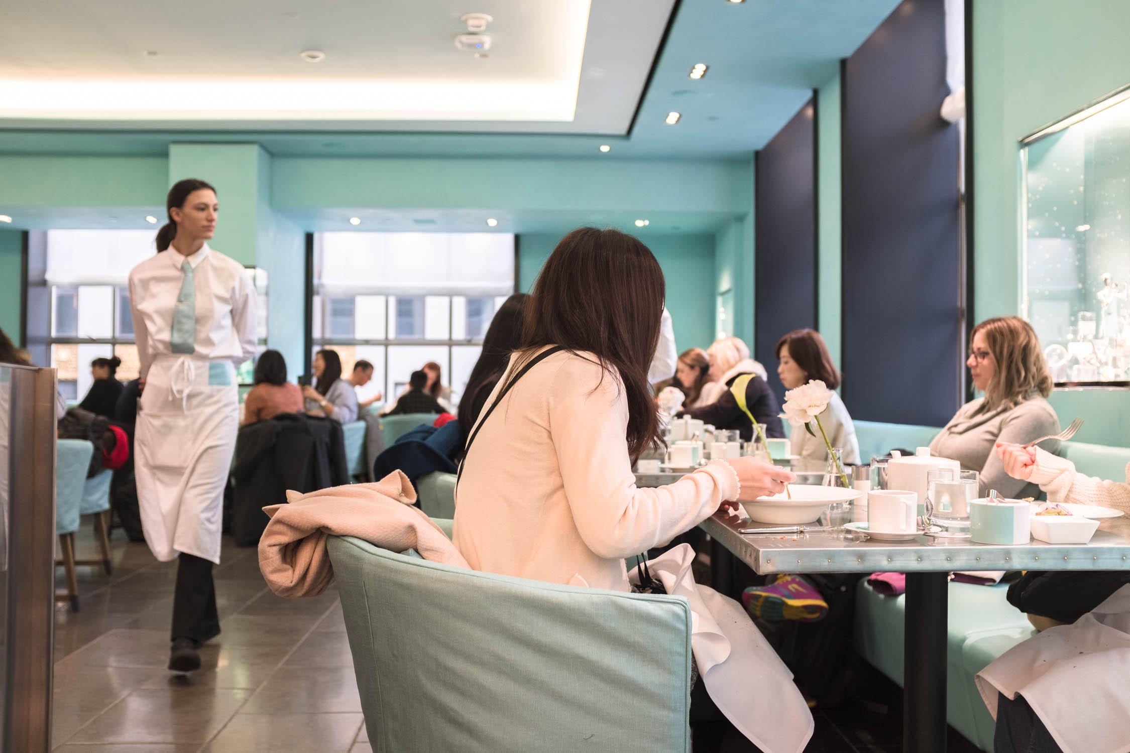 Guests at Blue Box Cafe at Tiffany and Co.