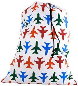 Kikkerland Travel-Size Laundry Bag, Airplane
