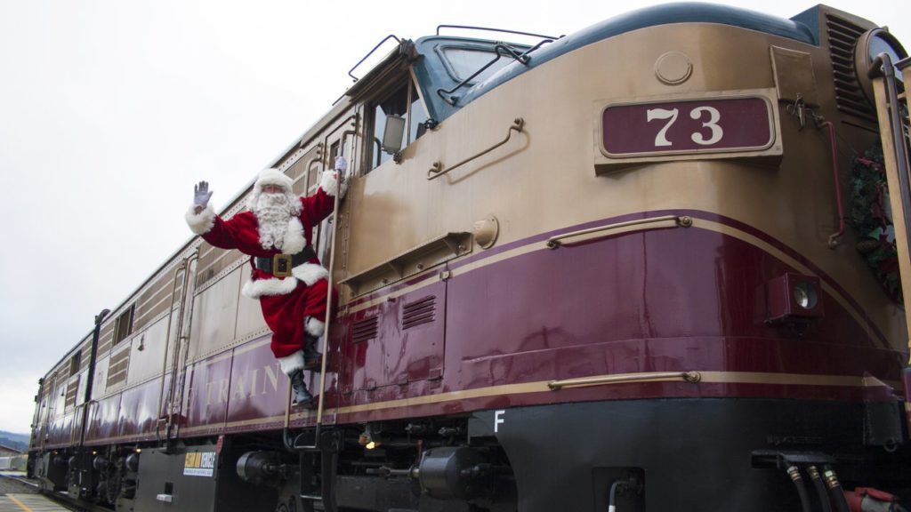 Napa Valley Wine Train's Santa Train