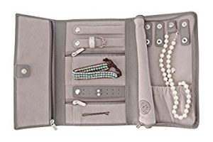 Saffiano Leather Travel Jewelry Case