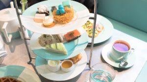 High tea Blue Box Cafe Tiffany and Co.