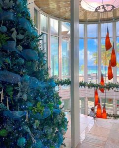 Christmas tree at Hilton Rose Hall in Jamaica