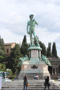 David at the Piazzale Michelangelo in Florence, Italy