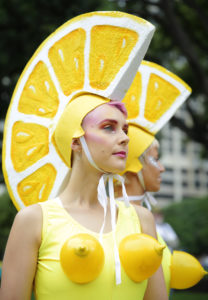 Lemonettes marching in the Sydney Gay and Lesbian Mardi Gras parade.