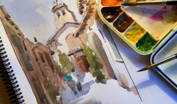 Provence Watercolor Painting Tour with Instructor Kathy Rennell Forbes (Photo: French Escapade)